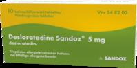 DESLORATADINE SANDOZ 5 mg (10 fol)