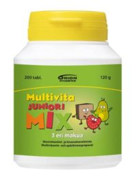 Multivita Juniori Mix Monivitamiini (200 kpl)