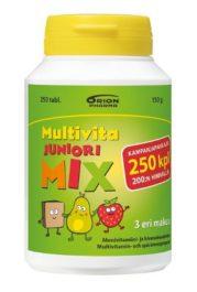 Multivita Juniori MIX Monivitamiini (250 purutabl)