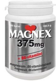 Magnex 375 mg + B6-vitamiini (180 tabl)