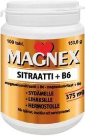 Magnex Sitraatti 375mg + B6 (100 tabl)