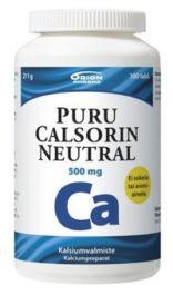 PURU CALSORIN NEUTRAL 500MG (100 kpl)