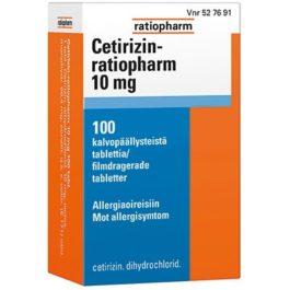 CETIRIZIN-RATIOPHARM 10 mg (100 fol)