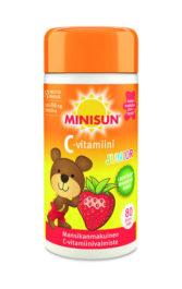 Minisun Junior C-vitamiini mansikka (80 tabl)