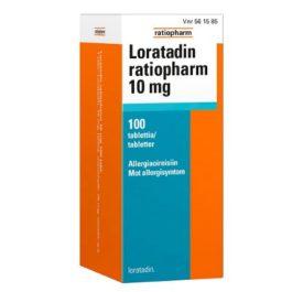 LORATADIN RATIOPHARM 10 mg (100 fol)