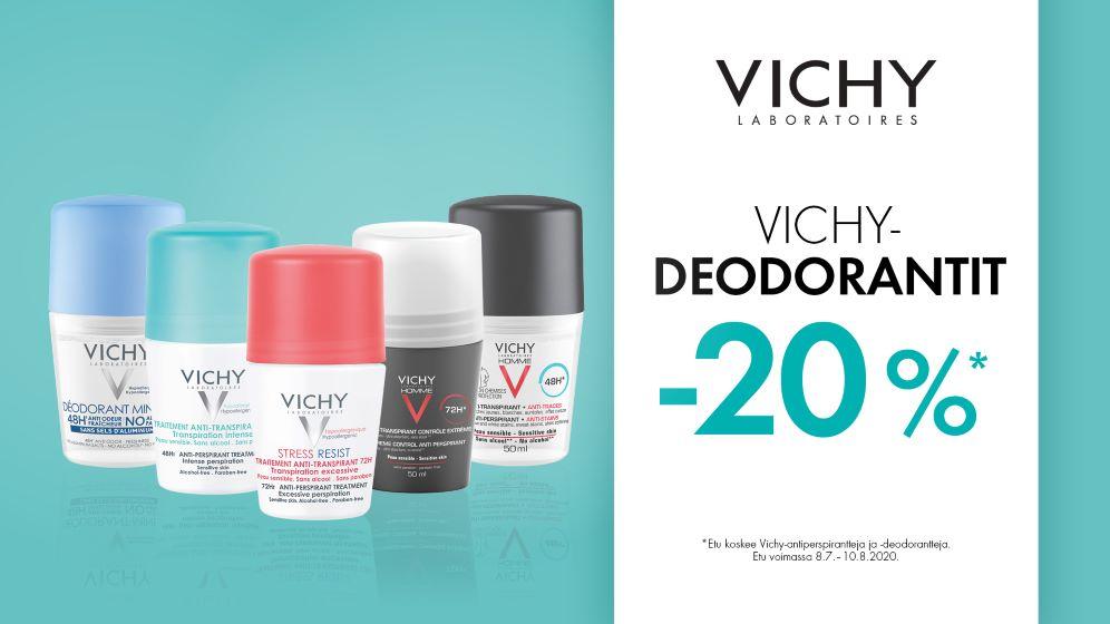 Vichy antiperspirantit ja deodorantit -20 %