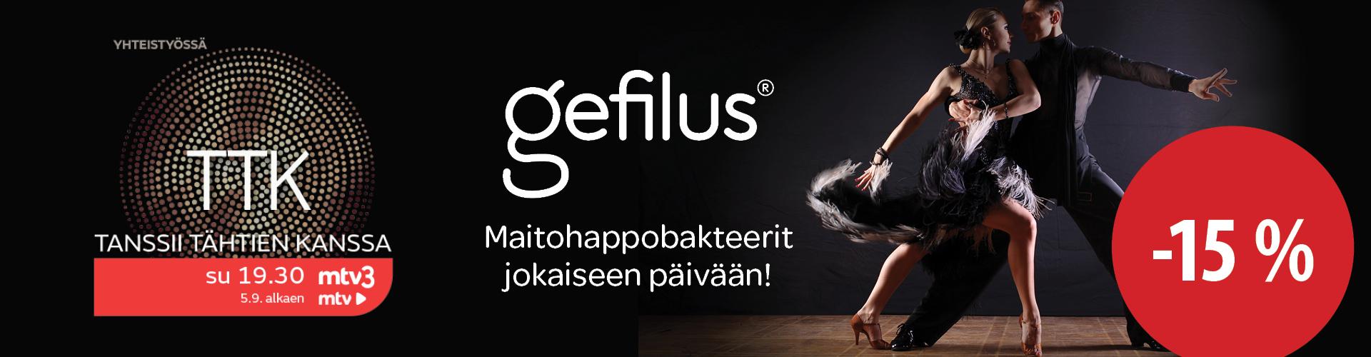 Gefilus -tuotteet -15 %