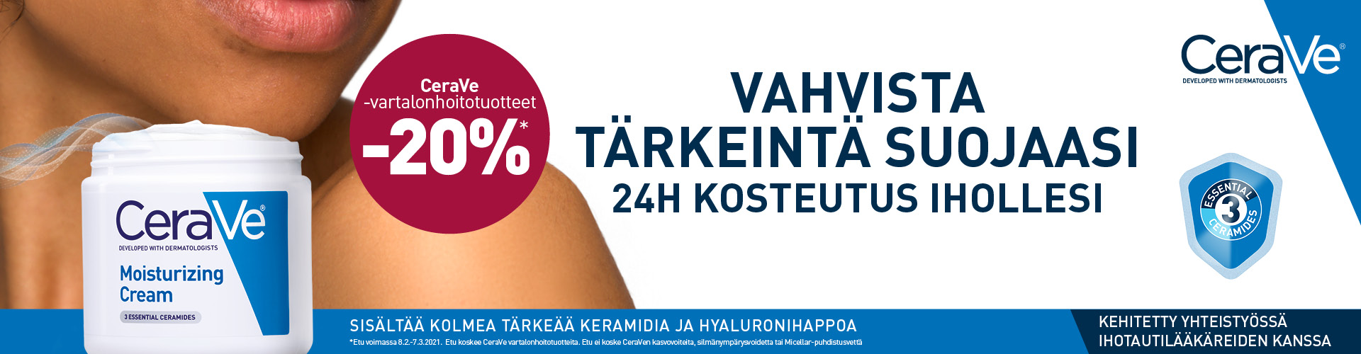 CeraVe vartalonhoitotuotteet -20 %