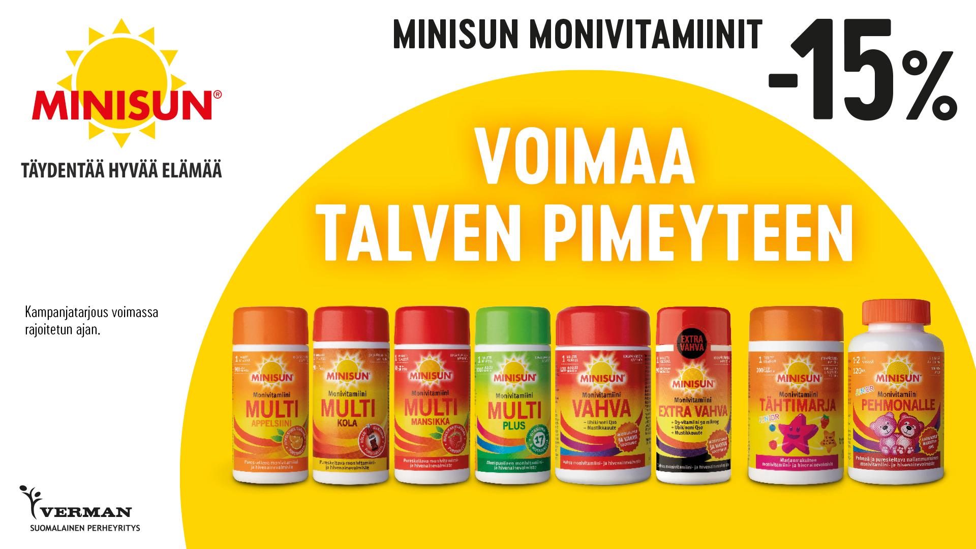 Minisun monivitamiinit -15%