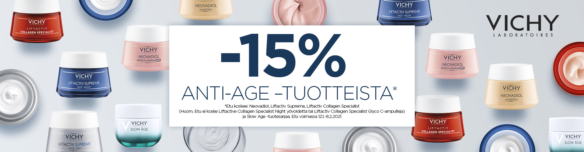 Vichy Anti-age tuotteet -15 %