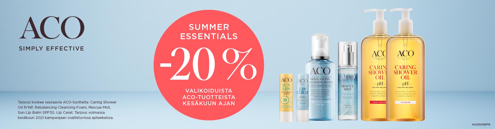 ACO Summer Essentials -20%