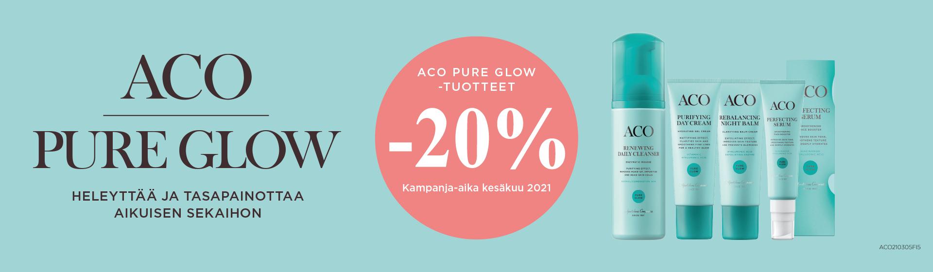 ACO Pure Glow -tuotteet -20%